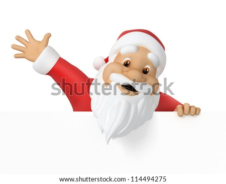 Santa Claus, 3d illustration,  work path included