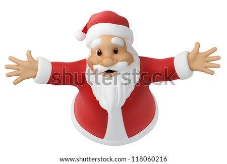 Santa Claus, 3d image with work path