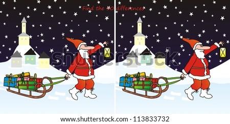 Santa 5 Differences