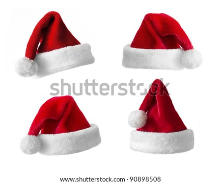 Santa Claus hat collection