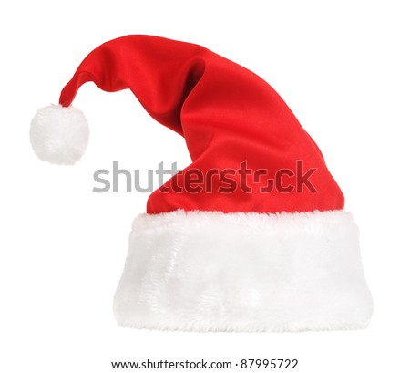 Santa Claus hat isolated in white background