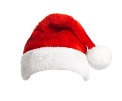 Santa Claus helper hat isolated on white background. Christmas and New Year celebration.
