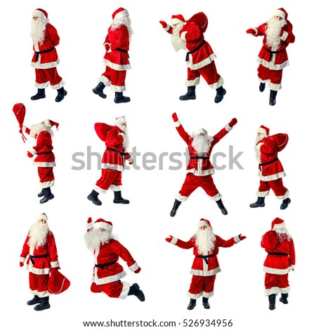Santa Claus in full growth. Santa Claus isolated on white. Collection. #526934956