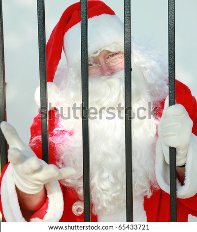 "Santa Claus is behind bars in jail and needs your help to either be bailed out or escape before december 24th or there will no No Christmas for anyone this year. Please help ""FREE SANTA"""