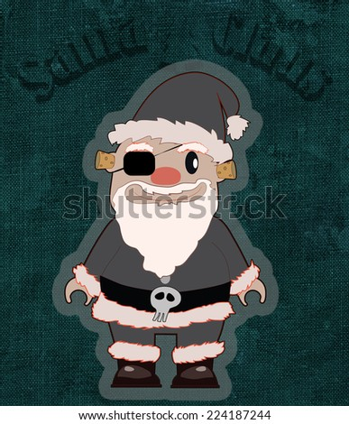 2177bfda555a2 Santa Claus like an pirate