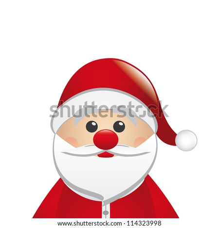 santa claus look from the side isolated