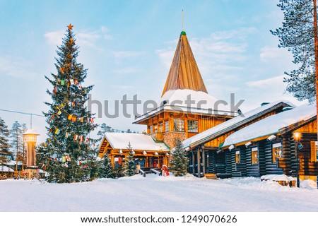Santa Claus Office at Santa Claus Village in Rovaniemi in Lapland in Finland.