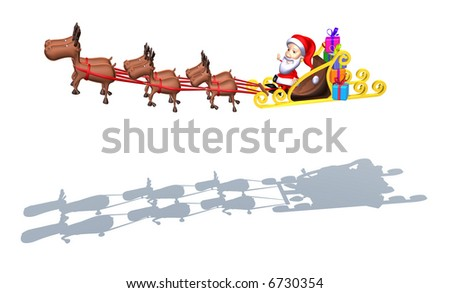 Santa Claus on a sledge