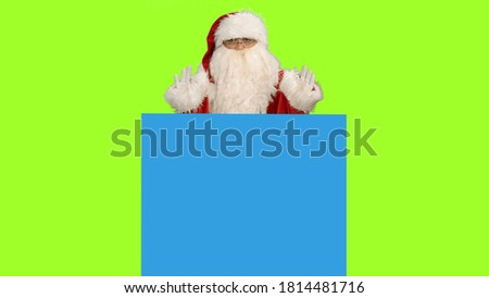 Photo of  Santa Claus on green screen and blue screen for your own text or animations, Chroma key