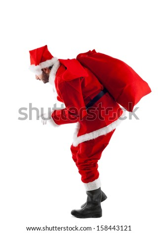 Santa Claus standing isolated on white background - Shutterstock ID 158443121