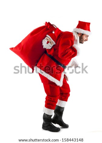 Santa Claus standing isolated on white background - Shutterstock ID 158443148