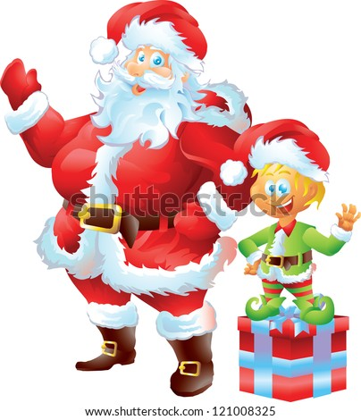Santa Claus with Elf