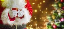 Santa Claus with hot mug