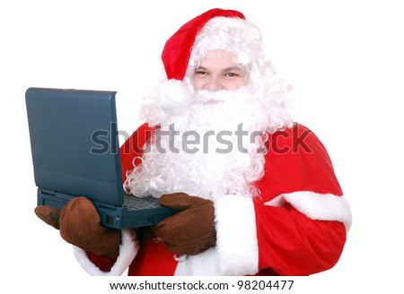 santa clause with notebook