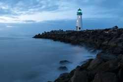 Santa Cruz lighthouse, Walton Lighthouse. Calofornia, USA West coas America