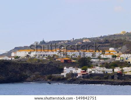 Santa Cruz - view from the open ocean, La Palma, Canary Islands, Spain