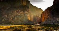 Santa Elena Canyon, Big Bend National Park, USA. Picture taken in the evening.