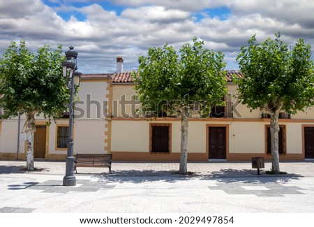 Santa Elena  village in the Jaen province. It´s in the national park of Despeñaperros. Stok fotoğraf ©
