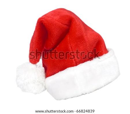 Santa Hat on a white background - stock photo