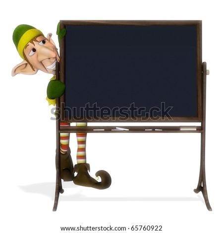 santa helper blackboard