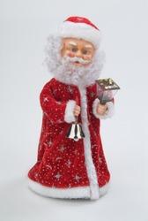Santa Klaus statuette on a studio background