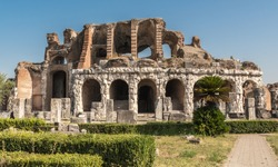 Santa Maria Capua Vetere, Campania, Italy - Amphitheater Campano, also called Capuan Amphitheater, erected in the 2nd century and second in size only to the Colosseum in Rome