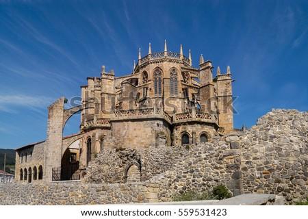Shutterstock Santa Maria de la Asuncion Cathedral, Castro Urdiales, Cantabria, Spain