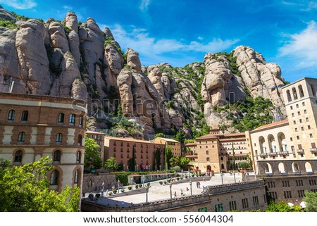 b556f8b3df Free photos Aerial view on Santa Maria de Montserrat Abbey in ...