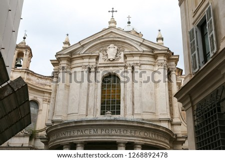 Santa Maria della Pace Church in Rome City, Italy #1268892478