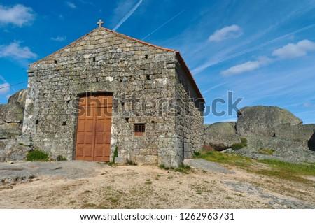 Santa Maria do Castelo Chapel in Monsanto. Castelo Branco, Portugal