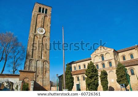 Santa Maria e Donato Church near San Donato channel at Murano Island, Italy