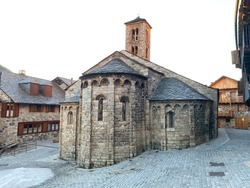 Santa Maria in the city of Taüll,  Romanesque church situated in the territory of Boí valley