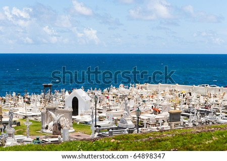 Santa Maria Magdalena de Pazzis colonial era cemetery located in Old San Juan Puerto Rico.