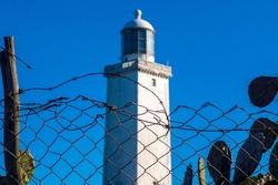 Santa Marta Lighthouse Located in Laguna City, Santa Catarina State in Brazil.