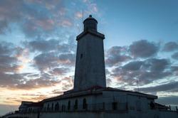 Santa Marta's Lighthouse, located in Laguna city, Santa Catarina state in Brazil.