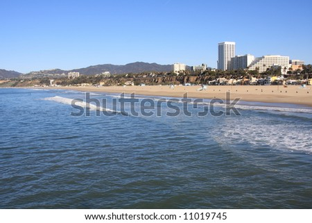 Santa Monica Beach and Upscale Hotels in Southern California