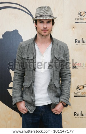 SANTA MONICA, CA - APRIL 22: Ian Somerhalder arrives at the Annenberg Beach House for an Earth Day celebration on April 22, 2012 in Santa Monica, CA.