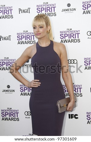 SANTA MONICA, CA - FEB 25: Beth Behrs at the 2012 Film Independent Spirit Awards on February 25, 2012 in Santa Monica, California