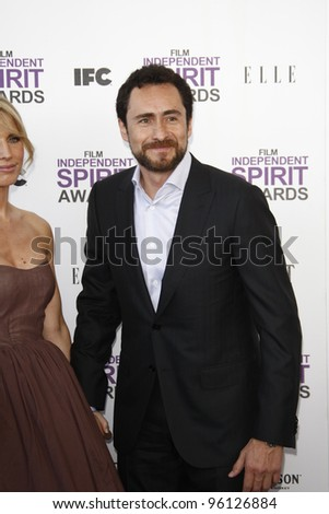 SANTA MONICA, CA - FEB 25: Demian Bichir at the 2012 Film Independent Spirit Awards on February 25, 2012 in Santa Monica, California