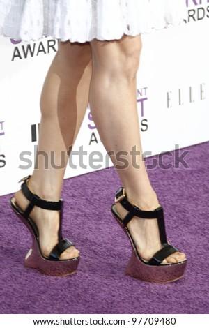 SANTA MONICA, CA - FEB 25: Lucy Liu at the 2012 Film Independent Spirit Awards on February 25, 2012 in Santa Monica, California