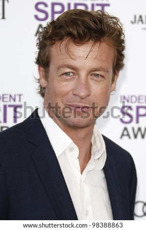SANTA MONICA, CA - FEB 25: Simon Baker at the 2012 Film Independent Spirit Awards on February 25, 2012 in Santa Monica, California