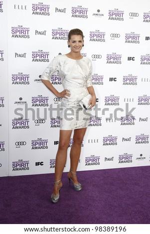 SANTA MONICA, CA - FEB 25: Stana Katic at the 2012 Film Independent Spirit Awards on February 25, 2012 in Santa Monica, California