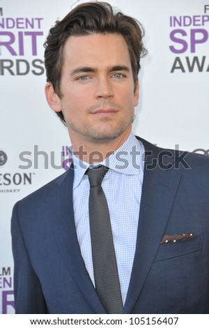 SANTA MONICA, CA - FEBRUARY 25, 2012: Matt Bomer at the 2012 Film Independent Spirit Awards on the beach in Santa Monica, CA. February 25, 2012  Santa Monica, CA