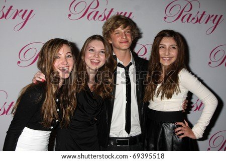 SANTA MONICA, CA - JAN 19:  Rachel Fox, Sammi Hanratty, Cody Simpson, Jennessa Rose arrive at Cody Simpson's 14th Birthday Party at Pacific Park at Santa Monica Pier on January 19, 2011 in Santa Monica, CA