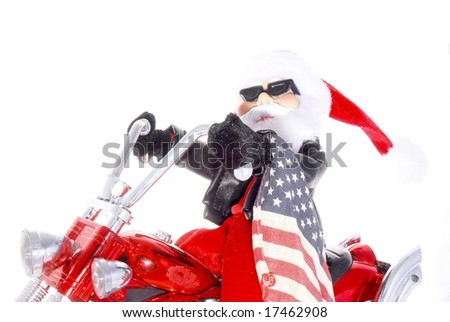 Santa on chopper