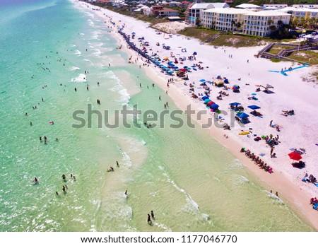 Santa Rosa Beach at Ed Walline Park, Santa Rosa Beach Florida - Slant Angle