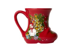 Santa's boot for Christmas Decoration isolated white background