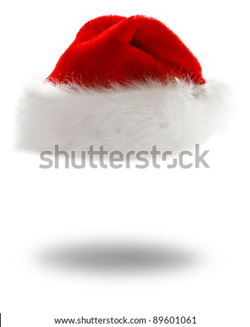 santa's hat with shadow
