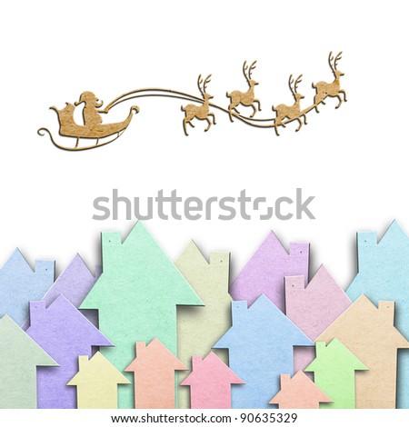 Santa's paper - stock photo