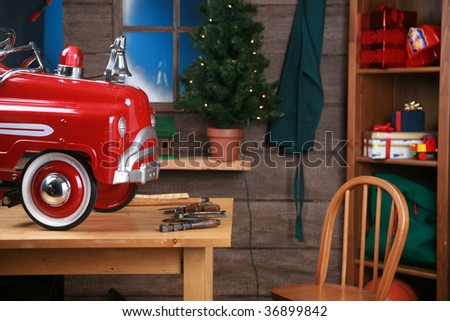 Stock Photo Santa's Workshop in the north pole